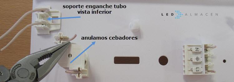 Detalle cebadores tubo fluorescente