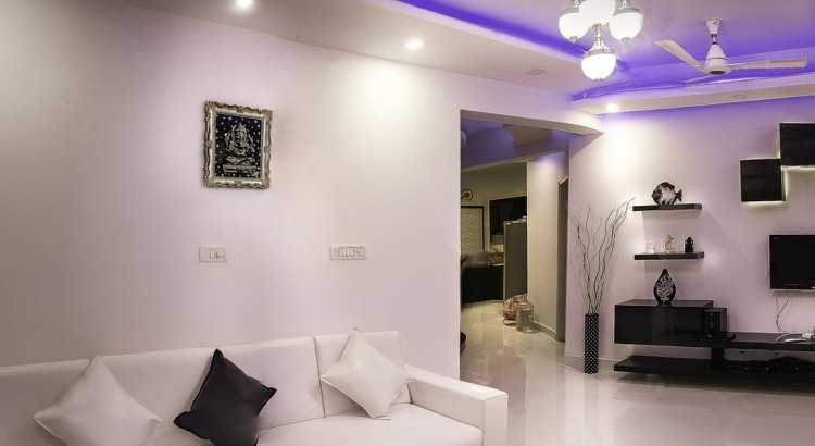 living room iluminado por led