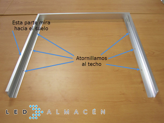 Kit de montaje superficie panel led 60x60 led almac n - Instalar lampara techo ...